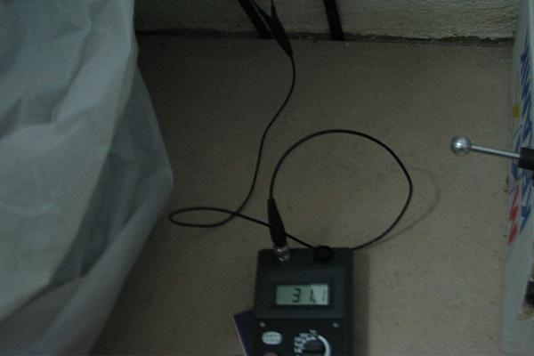 Beispielbild 1 Feuchtigkeitsmesssung bei Wassserschaden
